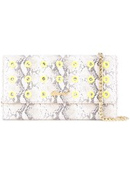 Muveil Snakeskin Effect Chain Wallet Grey