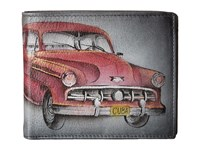 Anuschka 3000 Two Fold Men's Wallet Vintage Car Bags Red