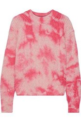 Line Woman Tie Dyed Cotton Blend Sweater Pink