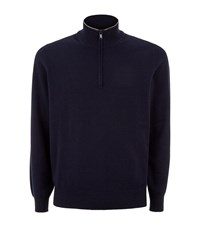 Brunello Cucinelli Cashmere Half Zip Sweater Male