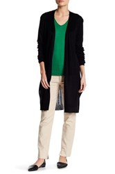 Joseph A Pointelle Back Duster Cardi Black