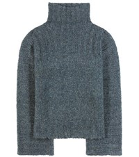 See By Chloe Mohair And Wool Blend Sweater Turquoise