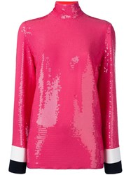 Emilio Pucci Sequin Embellished Top Pink Purple