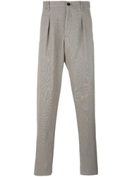 Armani Collezioni Loose Fit Trousers Grey