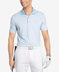 Izod Men's Fairway Striped Polo Blue Bell