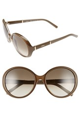 Chloe Women's Chloe 'Daisy' 58Mm Round Sunglasses Light Brown