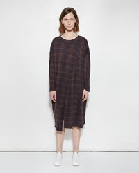 Zucca Jacquard Check Dress Brown