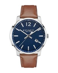 Coach 42Mm Bleecker Slim Men's Watch Brown Blue Brown Blue