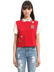 Tommy Hilfiger Gigi Hadid Cropped Cotton Polo Shirt