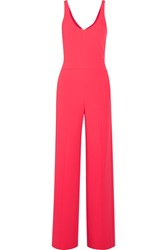 Narciso Rodriguez Cutout Textured Stretch Crepe Jumpsuit