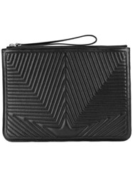 Golden Goose Deluxe Brand Quilted Star Clutch Black