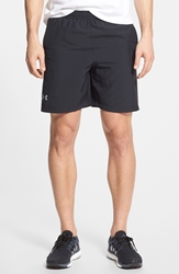 Under Armour 'Launch' Heatgear Seven Inch Woven Running Shorts Black Reflective