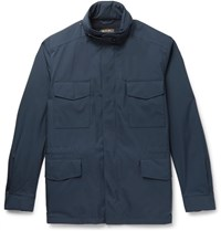 Loro Piana Traveller Cashmere Lined Windmate Storm System Field Jacket Navy