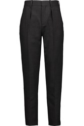 Iro Aliete Wool Blend Tapered Pants Dark Gray