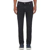Isaia Men's Slim Fit Jeans Black Blue Black Blue
