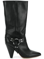 Buttero High Ankle Boots With Ring Detail Black