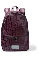 Adidas By Stella Mccartney Printed Rubber Paneled Neoprene Backpack Grape