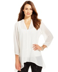 Miraclesuit Shaping Chiffon Tunic Top Ivory