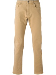 Versace Slim Fit Jeans Nude And Neutrals