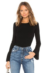 Bailey 44 Cossack Bell Sleeve Sweater Black