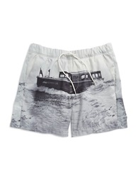 G Star Nautical Swim Shorts Light Chalk