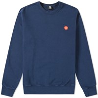 Aspesi Garment Dyed Face Logo Sweatshirt Blue
