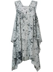 Lost And Found Rooms Spot Marble Trapeze Dress Grey