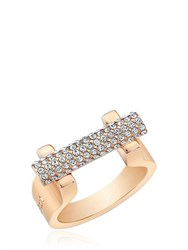 Vita Fede Sphere Bar Swarovski Crystal Ring