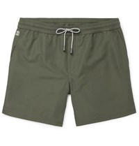 Brunello Cucinelli Wide Leg Long Length Swim Shorts Army Green