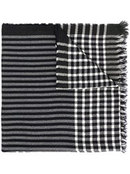 Begg And Co Geometric Weave Scarf 60
