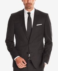 Hugo Boss Men's Slim Fit Super 120 Italian Virgin Wool Sport Coat Black