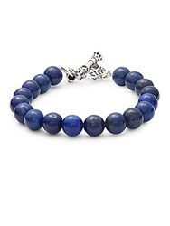 King Baby Studio Lapis And Stainless Steel Toggle Bracelet No Color