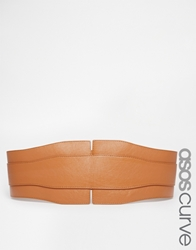 Asos Curve Wide Waist Belt Tan