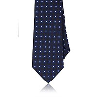 Barneys New York Men's Neat Squares Silk Jacquard Necktie Navy