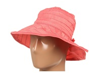 San Diego Hat Company Rbm4762 Crushable Ribbon Bucket Hat Coral Knit Hats