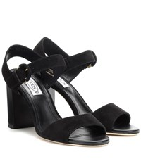 Tod's Suede Sandals Black