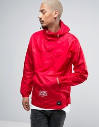 Sixth June Overhead Rain Jacket With Hood In Red Red