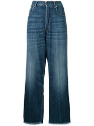 Golden Goose Deluxe Brand Wide Leg Jeans Blue