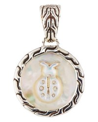 John Hardy Mother Of Pearl Carved Bug Pendant Enhancer