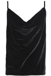 Oak Draped Velvet Camisole Black