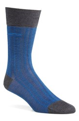 Men's Boss 'Paul' Cotton Blend Crew Socks Blue Bright Blue