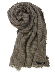 Replay Viscose And Alpaca Blend Scarf Green