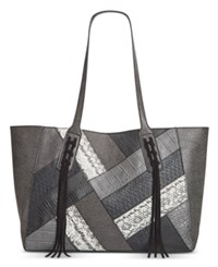 Inc International Concepts Liaa Patchwork Tote Only At Macy's Black Patchwork