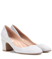 Valentino Tan Go Suede Pumps Grey