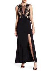 Trixxi Embroidered Sequined Dress Black