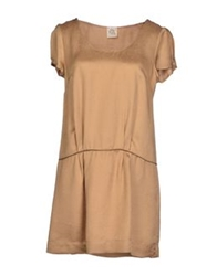 Attic And Barn Attic And Barn Short Dresses Beige