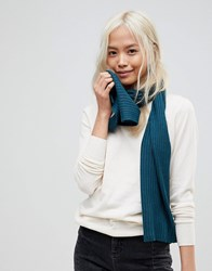 French Connection Soft Knit Scarf Navy