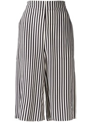 Closed Striped Shorts Black