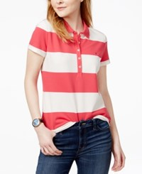 Tommy Hilfiger Rugby Striped Polo Shirt Only At Macy's Azalea