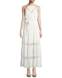 Dex Halter Neck Tie Waist Maxi Dress Ivory